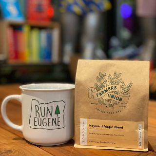 In case anyone needs a little extra magic this weekend for the Prefontaine Classic track meet, we are restocked with our Hayward Magic blend coffee ☕️ that pairs nicely with our Run Eugene mugs.  See you at Hayward this weekend!   P.S.  If you come to our Community run tonight we'll be raffling off a pair of tickets for the Pre Classic along with the pictured mug and coffee.   #preclassic #prefontaine #haywardfield #haywardmagic #tracktownusa #runeugene #farmersunionroasters