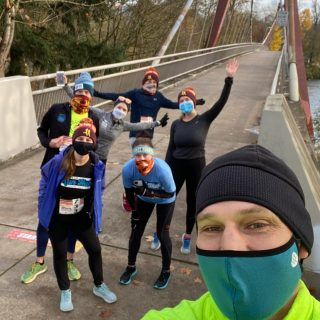 We laced up and ran the virtual edition of the Run to Stay Warm 10K, Run Hub Staff Style! #runtostaywarm #10k #teamrunhub #runhubnw #runeug #runeugene