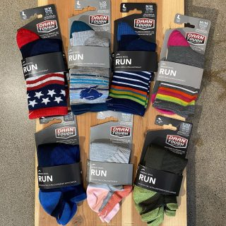 New colors in from Darn Tough.  All merino wool socks, made in the U.S.A. #darntoughsocks #merinowool #runningsocks #madeintheusa