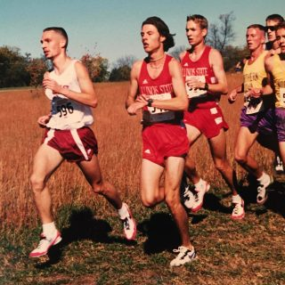 Because it's cross country season and Thursday.  Here's a little throwback Thursday for you with some late 90's and early 00's cross country pics of owners Dustin and Kris competing for their respective universities.  #crosscountry #xc #crosscountryrunning