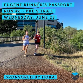 Join us for the sixth run in our Eugene Runner's Passport on Pre's Trail.  We'll start from Run Hub about 7 a.m. or run on your own anytime from 7-9 a.m. and we'll be there to stamp your passport and give you route suggestions.  Hoka One One will be there will shoes to demo and some free swag.   #runeugene #olympictrials #trackandfield #eugeneoregon #haywardfield #eugenerunning #runhubnw #hokaoneone #timetofly #prestrail