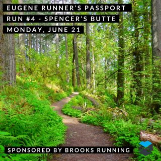 Join us for our fourth run on our Eugene Runner's Passport.  We'll start from Frank Kinney Park about 7 a.m. or run on your own anytime from 7-9 a.m. and we'll be there to stamp your passport and give you route suggestions.   #eugenerunnerspassport #runeugene #olympictrials #trackandfield #eugeneoregon #haywardfield #eugenerunning #runhubnw #brooksrunning #ridgelinetrail #spencersbutte