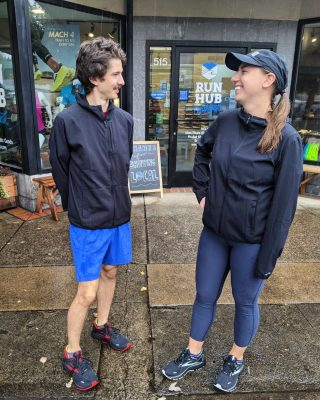 Don't let the rain 🌧️ keep you from pursuing your goals 🏅! The right gear can help you stay on track.   The Brooks Canopy Jacket is a breathable water resistant option great for layering. Pair it with the Brooks Ghost 14 GTX to keep your feet warm and dry!   For a more waterproof layer, try the Craft Pro Hydro Jacket, complete with ventilation in the armpits and upper back for temperature regulation.   #brooksrunning #brooksghost14gtx #runhappy #craftsportswear #crafthydro #runningintherain #runhubnw #runeugene #runoregon #keeprunning